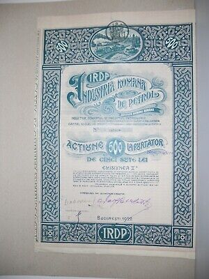 oil Romanian extracting industry stock certificate
