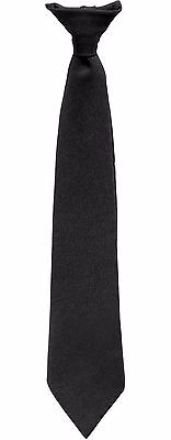 """Rothco 20"""" Police Issue Clip-On Necktie Black Security Officer Clip Tie 30084"""