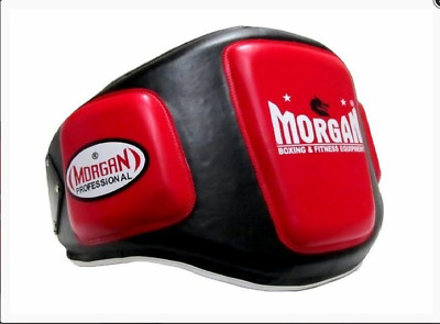 New Morgan Professional Jumbo Belly Pad Boxing V2 Shield Mma Guard Train Pad