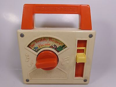 Vintage 1979 FISHER-PRICE THE TEDDY BEAR'S PICNIC Music Player Radio 792 Works