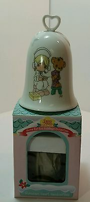 Precious Moments: Porcelain Heart Handled Bell 1994