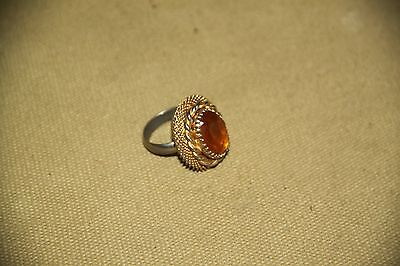 Plated fashion ring probably a Citrine?