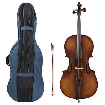 Kreisler #130 Beginner 1/2 Size Cello Outfit with Bow, Bag, Rosin & Pro Setup!