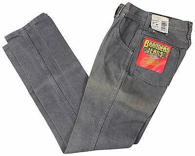"NEW VTG 90s DICKIES Branders JEANS Boys 12 Slim Fit Gray 24"" Waist Deadstock NOS"