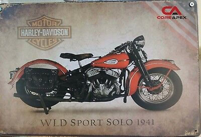 HARLEY Vintage Tin Bar Sign, Motorcycle Sign, Great for man cave or bar SO1941