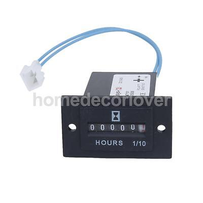 10V-80V DC Hour Meter Sealed Counter Gauge with Wire for Boat Car Truck Engine