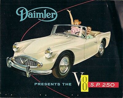 Daimler SP 250 Spec B 1961-63 Export Markets Foldout Sales Brochure