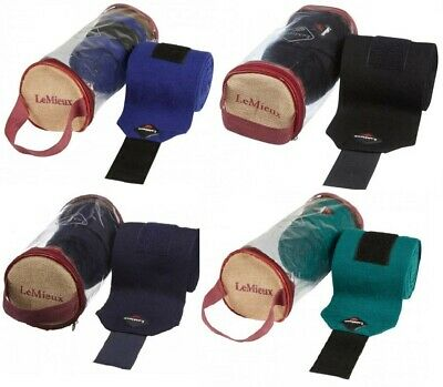 LeMieux STABLE BANDAGES Soft Support Knitted Protective Burgundy/Black/Navy/Grey