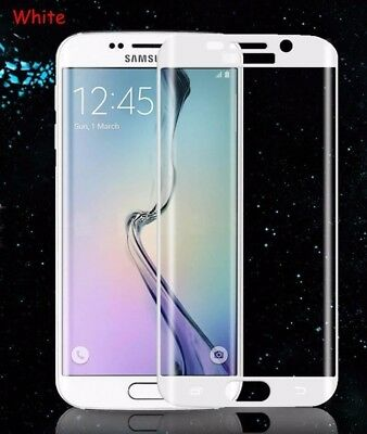 Full Curved 3D Tempered Glass Protector For Samsung Galaxy S6 EDGE PLUS- White