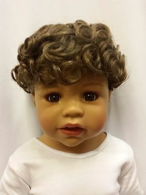 "NWT Monique Chubba Curly Light Brown Boy Doll Wig 16-17"" (WIG ONLY) Handmade"