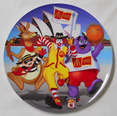 2000 McDonald's Collectible Plate-Australia-Sydney Opera House-Olympics