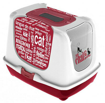 MAISON DE TOILETTE CHAT/BAC LITIERE POUR CHAT ''WORD'' Réf AS97393CW