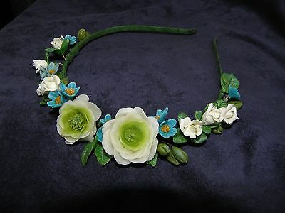 Beautiful handmade Headband with buttercups from cold porcelain