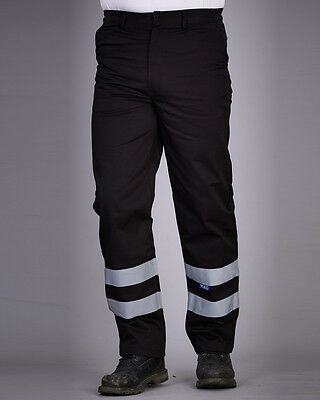 Yoko REFLECTIVE WORK TROUSERS HIGH VISIBILITY ACTION SWING POCKETS SIZES DURABLE