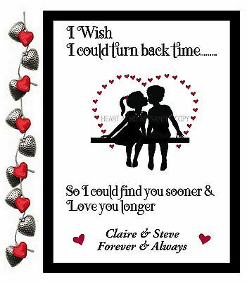 VALENTINES DAY GIFT PERSONALISED for HIM HER HEART ANNIVERSARY COUPLE PRESENT