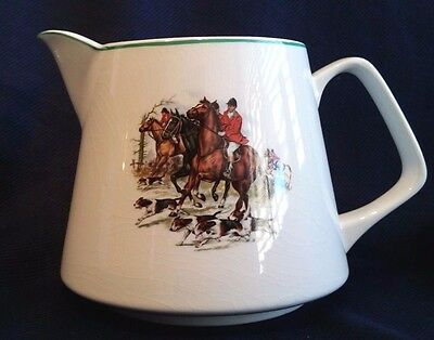 Lord Nelson Pottery Pitcher English Hunting Horses