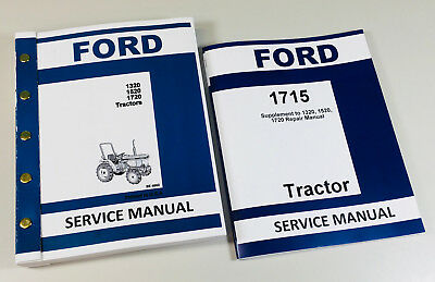 Ford 1715 Tractor Service Repair Shop Manual Complete Factory Technical Overhaul