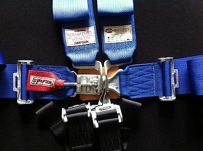 """New Simpson 55"""" Bolt-In 5 6 Point Safety Harness/Seat Belt Combo wrap around"""