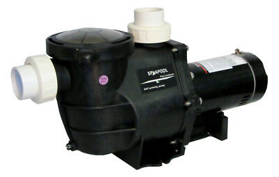 Deluxe Energy Efficient 2 Speed Pump for In-Ground Pool 1 HP 115V with Fittings