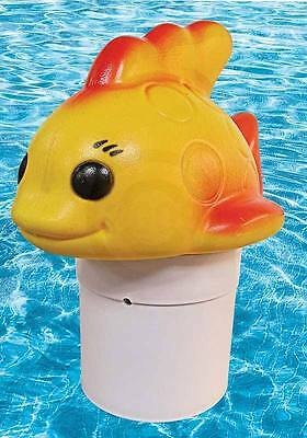 Floating Chlorine Bromine Dispenser for Swimming Pools Shaped as a Gold Fish