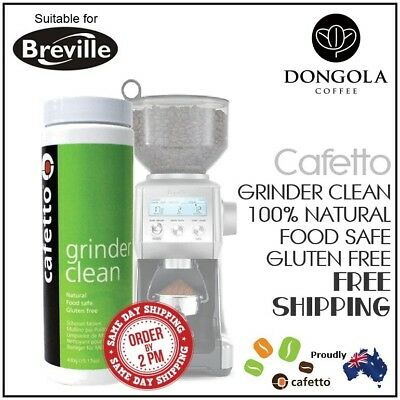 BREVILLE Coffee Grinder Clean Conical / Ceramic Burr Cleaner 430g Urnex Cafetto