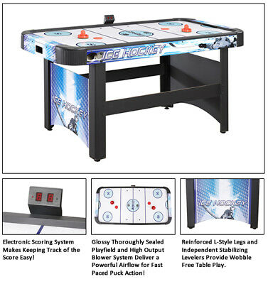 Face-Off 5 Foot Air Hockey Game Table With Electronic Scoring By Carmelli