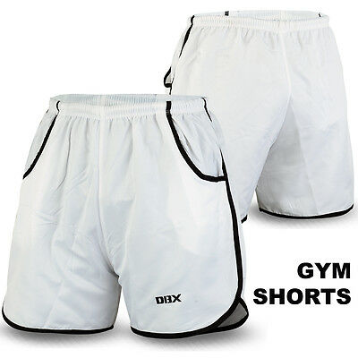 Shorts Mens Gym Fitness Running Ultimate Bodybuilding Training Workout White