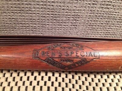Autographed Starr Syracuse NY BASEBALL BAT Advert Kren's Special Promo Sample 15