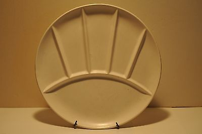 9 inch round Divided white plate, Japan 7025,