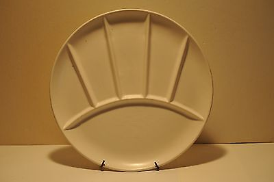 9 inch round Divided white plate, Japan 7025, stamped