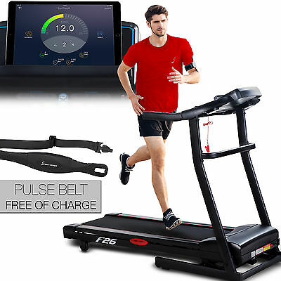Sportstech F26 Professional Treadmill with 5 Inches Display 16 km/h foldable