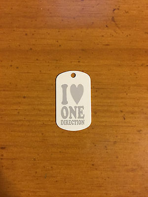 Dog Tag Anodized Aluminum with One Direction 1D Designs Laser Etched