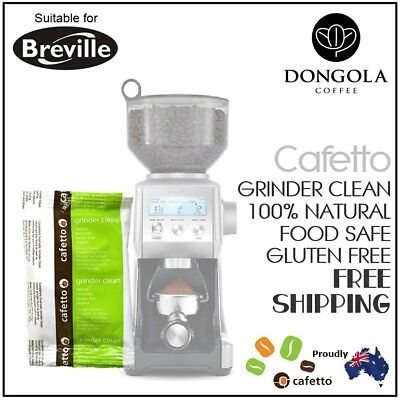 BREVILLE Coffee Grinder Clean Conical / Burr Cleaner 40g Sachet Urnex / Cafetto