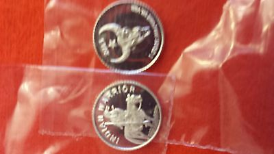 """2013 minted 1 gm. .999 fine silver """"Indian Warrior"""" round  + ADD-ONs available !"""