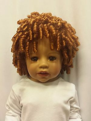 """NWT Monique Curly Sue Carrot Doll Wig 16-17"""" fits Masterpiece Doll(WIG ONLY"""