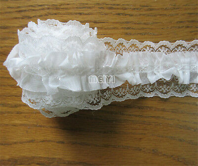 New Vintage Gathered Embroidered Lace Edge Trim Ribbon Applique Sewing Craft DIY