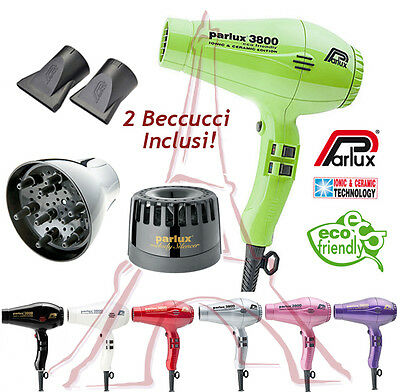 Phon Asciugacapelli Professional Parlux 3800 Eco Friendly Ionic & Ceramic Italy