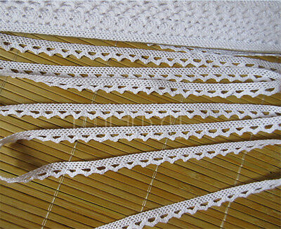 Vintage White Lace Trim Bridal Wedding Ribbon Sewing Craft Cotton Crochet DIY