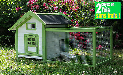 CAGE CLAPIER ALICE POUR LAPIN-COCHON D'INDE-CHINCHILLA-FURET ET CHAT Réf AS4422