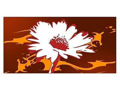 HD Glasbild EG4100501516 FLOWER BLÜTE ORANGE 100 x 50 cm Wandbild FLORAL/BOTANIK