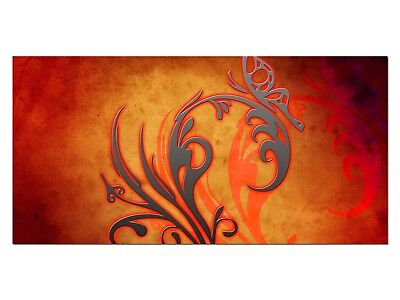 HD Glasbild EG4100501138 TRIBAL ABSTRAKT ROT II 100 x 50 cm Wandbild DESIGN