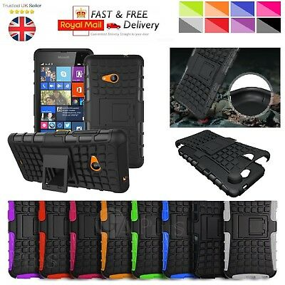 Microsoft Lumia 640 Case Heavy Duty Shockproof Bumper Hybrid Armor Stand Cover