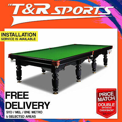 12FT FULL SIZE TIMBER SLATE SNOOKER BILLIARD TABLE SALE was $8999.99 FREE GIFT