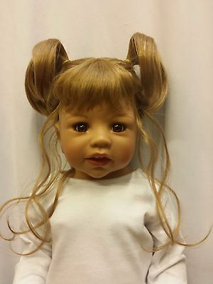 """NWT Monique Margie Honey Blonde Doll Wig 16-17/"""" fits Masterpiece Doll WIG ONLY"""
