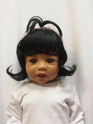 """NWT Monique Cindy Black Doll Wig 16-17"""" fits Masterpiece Doll(WIG ONLY)"""