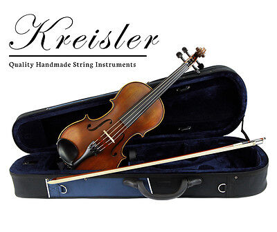 "Kreisler #120 Beginner 13"" Size Viola Outfit with Bow, Case, Rosin & Pro Setup!"