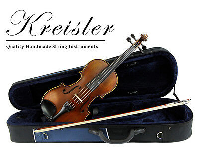"Kreisler #120 Beginner 14"" Size Viola Outfit with Bow, Case, Rosin & Pro Setup!"
