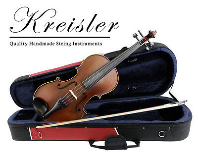 "Kreisler #120 Beginner 15"" Size Viola Outfit with Bow, Case, Rosin & Pro Setup!"