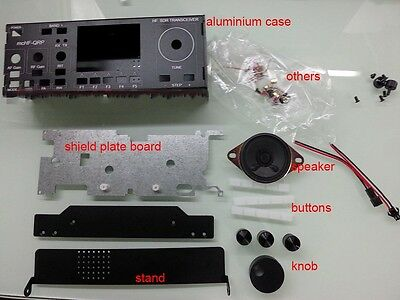 Aluminum Case for mcHF SDR Radio UI RF V0.4 V0.5 V0.6 + shield +speaker + Handle
