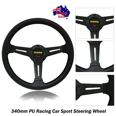 350mm BLACK Racing Car Sport Steering Wheel